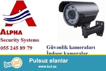 <br /> IP tehlukesizlik kameralari. <br /> <br /> Alpha Security sirketinde analoq kameralarla yanasi, IP kameralarin da satisi ve qurasdirilmasi xidmeti gosterilir...