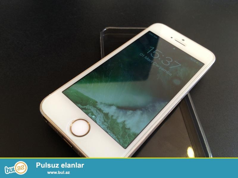 Iphone 5s Gold. yaxshi veziyetdedir. hersheyi ishleyir barmag izi ela ishliyir...