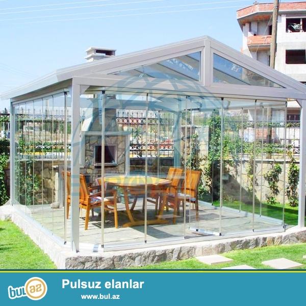 EuroGlass şirkəti olaraq - Cam balkon, Tent, Pergola, Qış