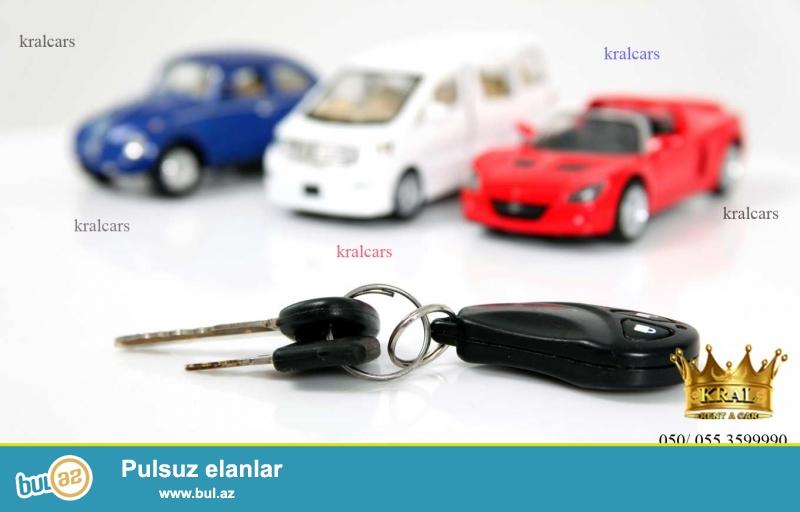 050/055/070/ 359 99 90  Ferqli avtomobillerin adresi Rent Car Kral...