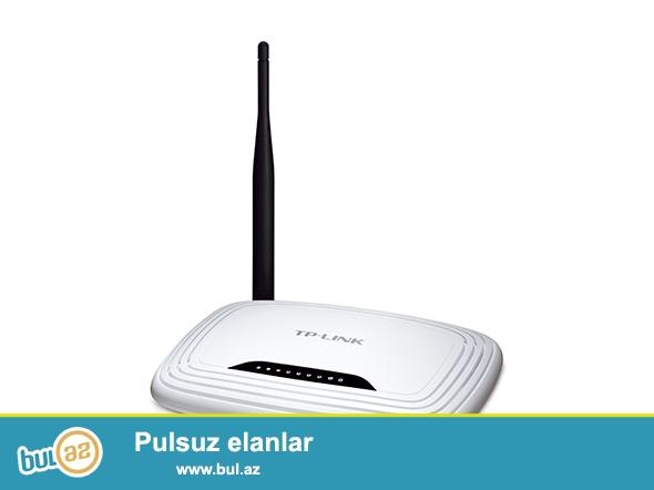 Tp-Link, TL-WR740N\r\nWireless 1x5 dbi Antenn, 150 Mbit/c\r\n4 lan Port...