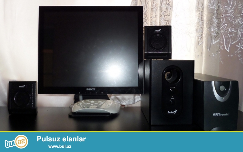 1)Komputer stolu<br /> 2)ups<br /> 3)web kamera<br /> 4)oyun diskleri<br /> 5)processor-A5 <br /> 6)Ram-8 ddr<br /> 7)Video-karta-nvidia 460-2(256mb)<br /> 8)ses guclendirici<br />