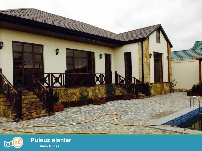 Для очень солидных клиентов! В поселке  Шувалан , в низ от Зиярятгах, в 10 минутах пешком от моря, продается 1-но этажный, площадью   127 квадрат, 4-х комнатный  частный дом , расположенный на 7 сотках земли...