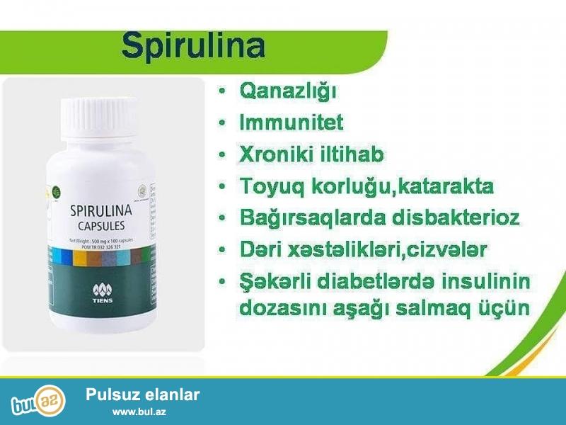 Spirulina təkhüceyrəli dəniz yosunu olub, tərkibinin zənginliyinə görə,dünyada,ən qiymətli bitkilərdən biridir...