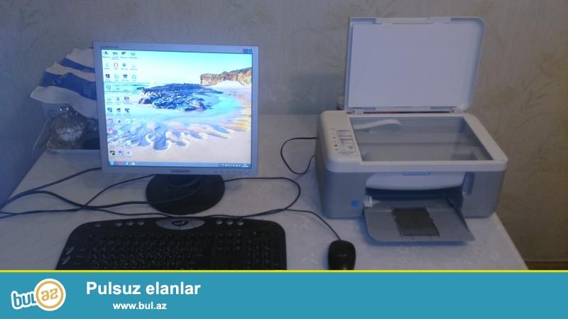 monitor və printer satılır klaviatura və mış üstündə verilir...