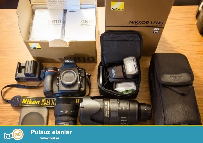 5 ədəd 2 pulsuz almaq !!<br /> <br /> Nikon D810 / D800 WhatsApp: +447452264959<br /> <br /> Brand Nikon<br /> Model D810<br /> MPN 1542<br /> <br /> Əsas Xüsusiyyətlər<br /> Camera növü Digital SLR<br /> Sensor Resolution 36...