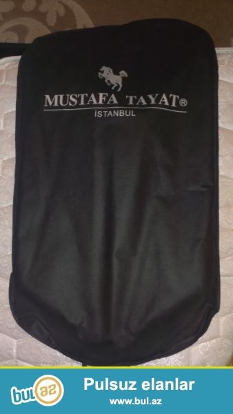 Mustafa Tayat bir defe geyinilmis kostyum satiram koynek qalstuk remen hediyye real aliciya endirim olacaq