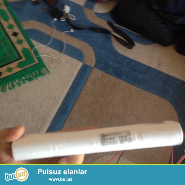 ER ELEKTRONİK 3 SAAT PİL 4, 8V 4000mAh şarjlı pil bataryası