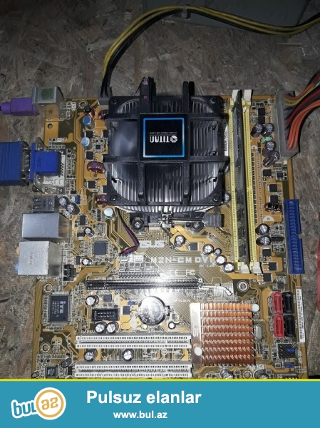 Ana plata ASUS DDR2 2 ram slotu 1 vidio karta slotu usdunde pracesoru yenisini aldim bunu satiram
