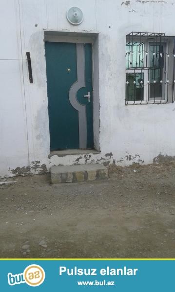 Bayil qəs.20-ci sahədə 1 otaqlı ev işiq su daimi kombi