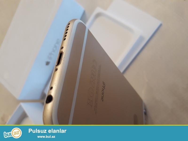 İphone 6 gold 16gb işlənmiş. Problemi yoxdur. İşləndiyi