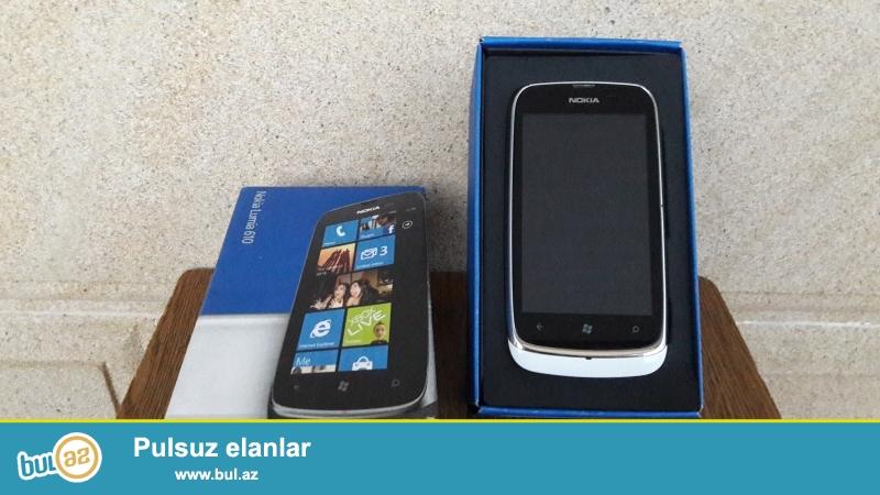Nokia Lumia 610, hech bir problemi yoxdur, tam ishlek veziyetdedir...