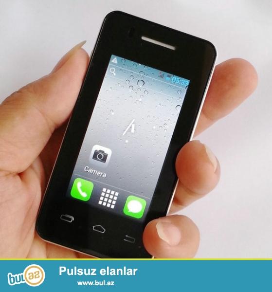 Yeni.çatdırılma pulsuz<br /> Dünyanın En balaca Android Smartfonu MELROZ S1 Duos MP3 Terminator Mini Android 4...