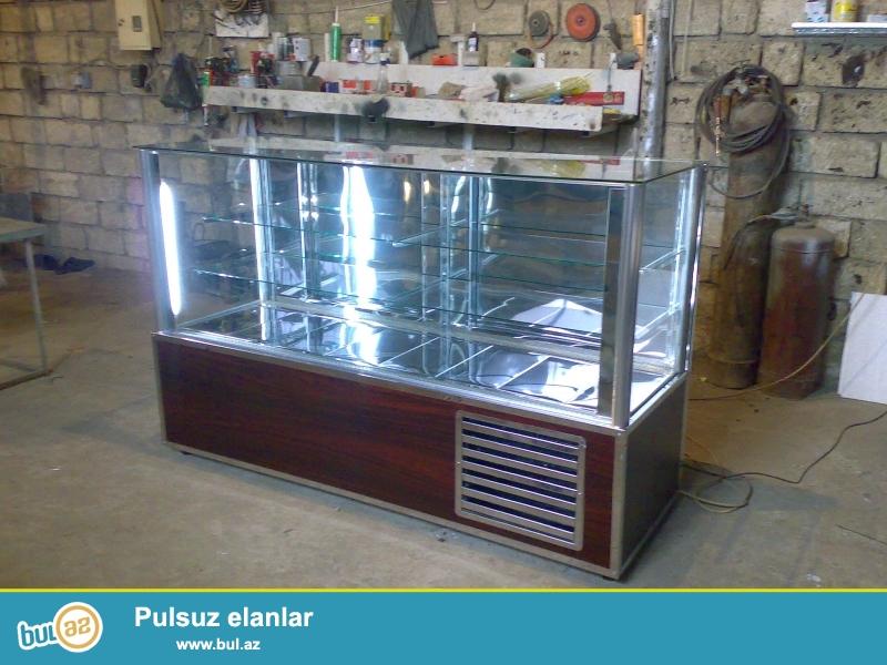 Market ve qastronom tipli dukanlara aid her nov vitrin,wkaf ve anbar soyuducularin ,divar ve ikiterefli reflerin ve s...