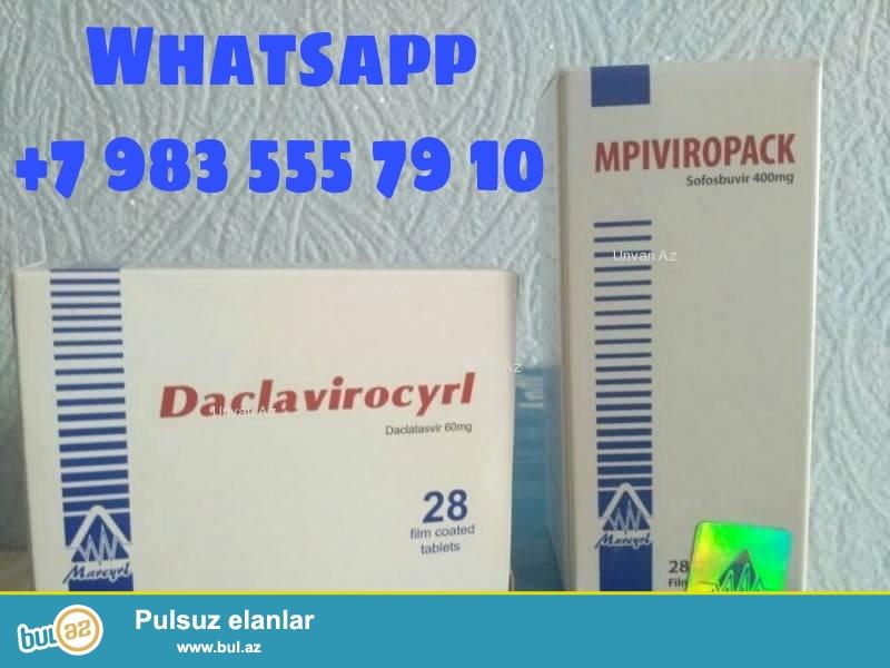 Misir ve Hindistan istehsali olan hepatit c dermanlari teklif olunur: \r\nHepcinat Lp-Hindistan \r\nMpiviropack Plus-Misir \r\nMpiviropack-Daclatasvir-Misir \r\nDermanlar tam original, hologramalidir, zemanet verilir originalliga...