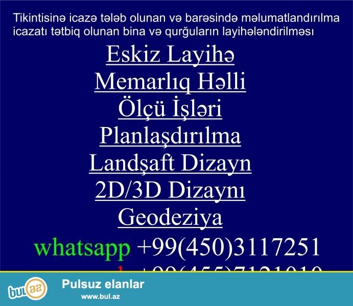 Eskiz Layihə, Planlama, Sxem <br /> Təstiq edirəm 1 m kv 2 manat