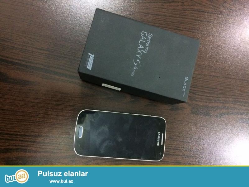 Samsung Galaxy S4 mini black edition karobkası+adaptoru verilir,tel yaxşı vəziyyətdədir,yalnız qıraqlarının rəngi gedib,heç bir problemi yoxdur,ciddi şəxslər narahat etsin...