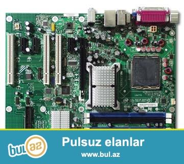 Ana plata DDR2 biostar 16 gb ram destekleyir 1 vidio carta 3 soyuducu kuler yeri usdunde dual core 2  2gb ram 1 gb vidio carta 160 gb HDD