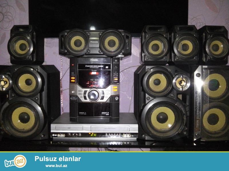 Təcili Full Panasonic musiqi mərkəzi və üstündə LG dvoyka satılır...