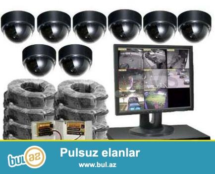 Procam nəzarət kameralarının quraşdırılması firması sizlərə münasib qiymət və yüksək keyfiyyətlə kameraların,domofonların quraşdırılmasını təklif edir! 4kamera + dvr 4 port+ 500gb hdd +100 metr kabel+ başlıqlar+ blok pitanya 12 v + online izləmə+3 ay texniki servis+ 1il qarantiya detallara <br /> cƏmİ 450azn<br /> <br /> <br /> Digər qiymətlər və təkliflər haqqında əlaqə telefonlarımızdan məlumat ala bilərsiniz !<br /> <br />