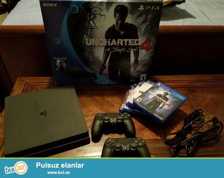 Sony PlayStation 4 Slim 2TB 2000GB Console.<br /> <br /> 2 1 pulsuz almaq almaq...
